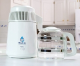 Megahome Countertop Water Distiller, White, Glass Collection Review